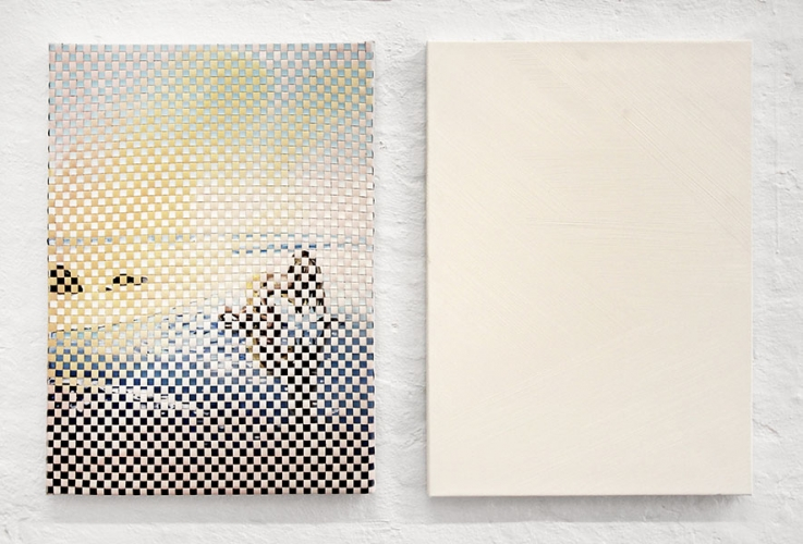 https://morten-jacobsen.info/files/gimgs/th-66_9_The Survivor Diptych, 2015, oil on canvas (partly weaved), 2 pieces of 46 x 65 cm.jpg